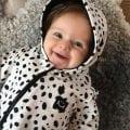 Onepiece baby svart/vitdalmatin - Happy