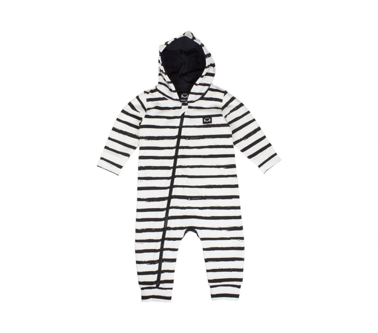 Onepiece baby svart/vitrandig – Happy
