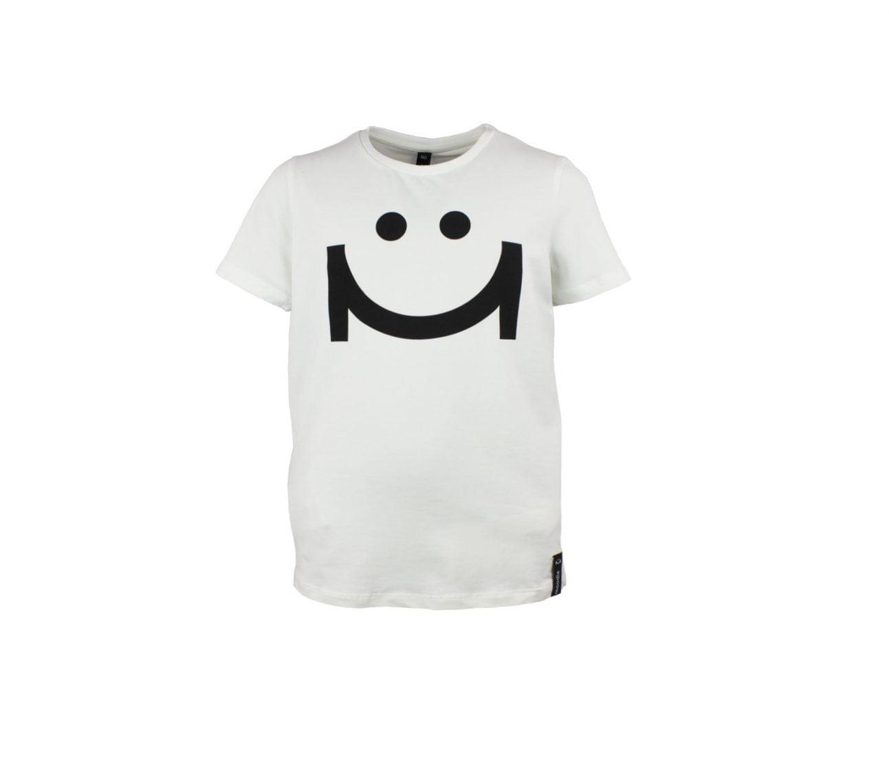 T-shirt barnvit med zip – Austin