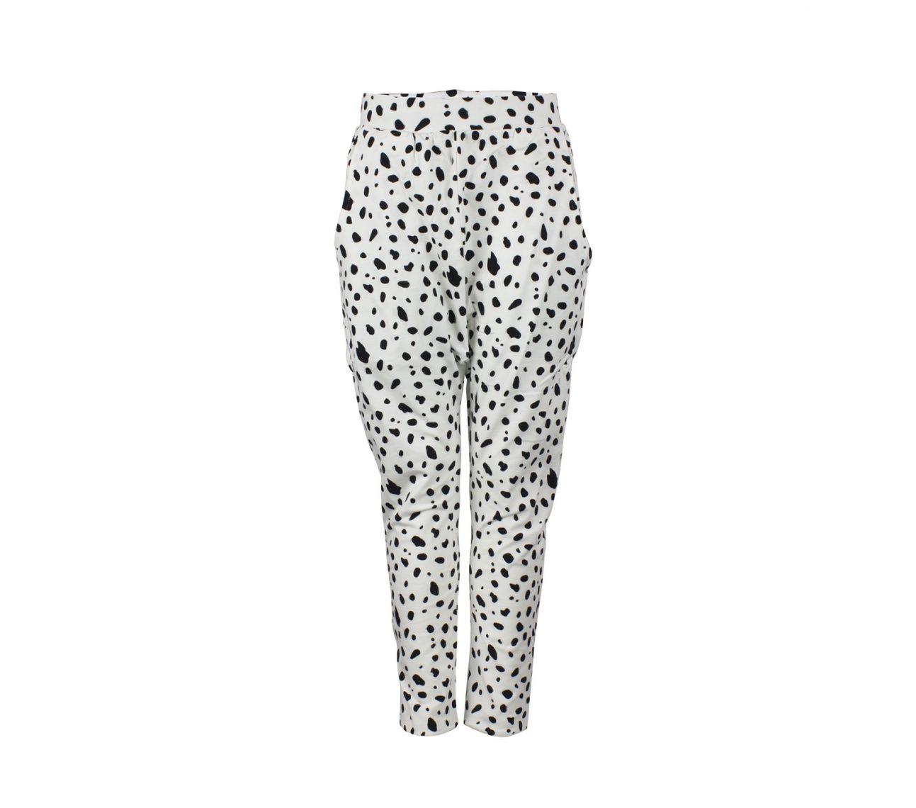 Haremsbyxa barn svart/vit dalmatin – Memphis