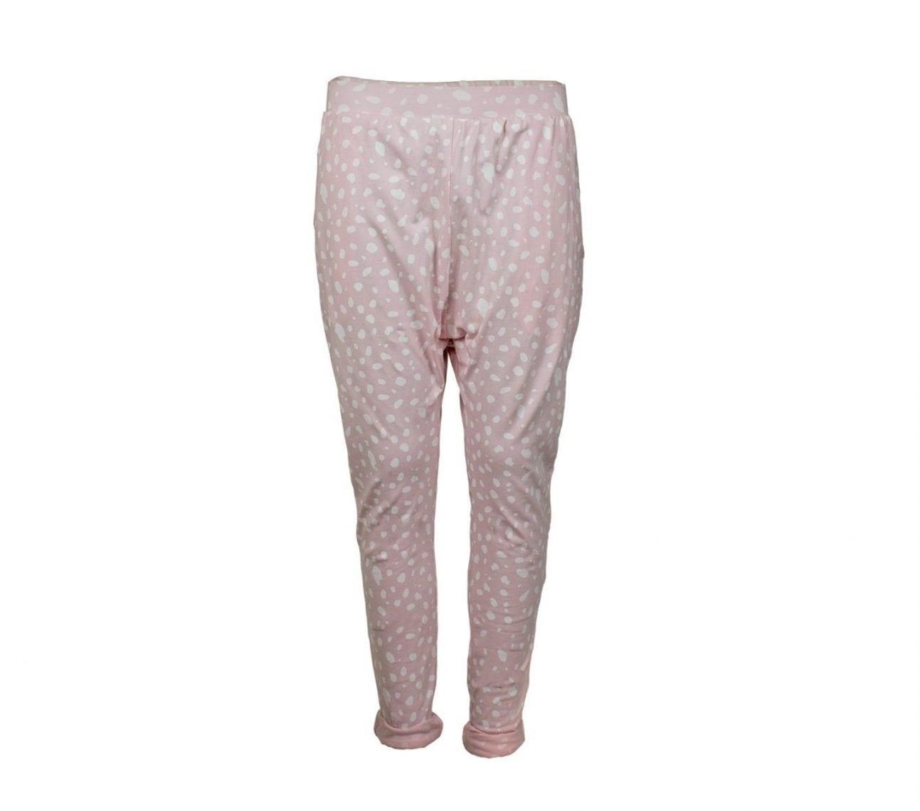 Haremsbyxa barn rosa/vit dalmatin – Memphis