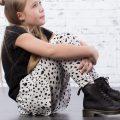 Leggings barn svart/vitdalmatin mönstrad- Cooper