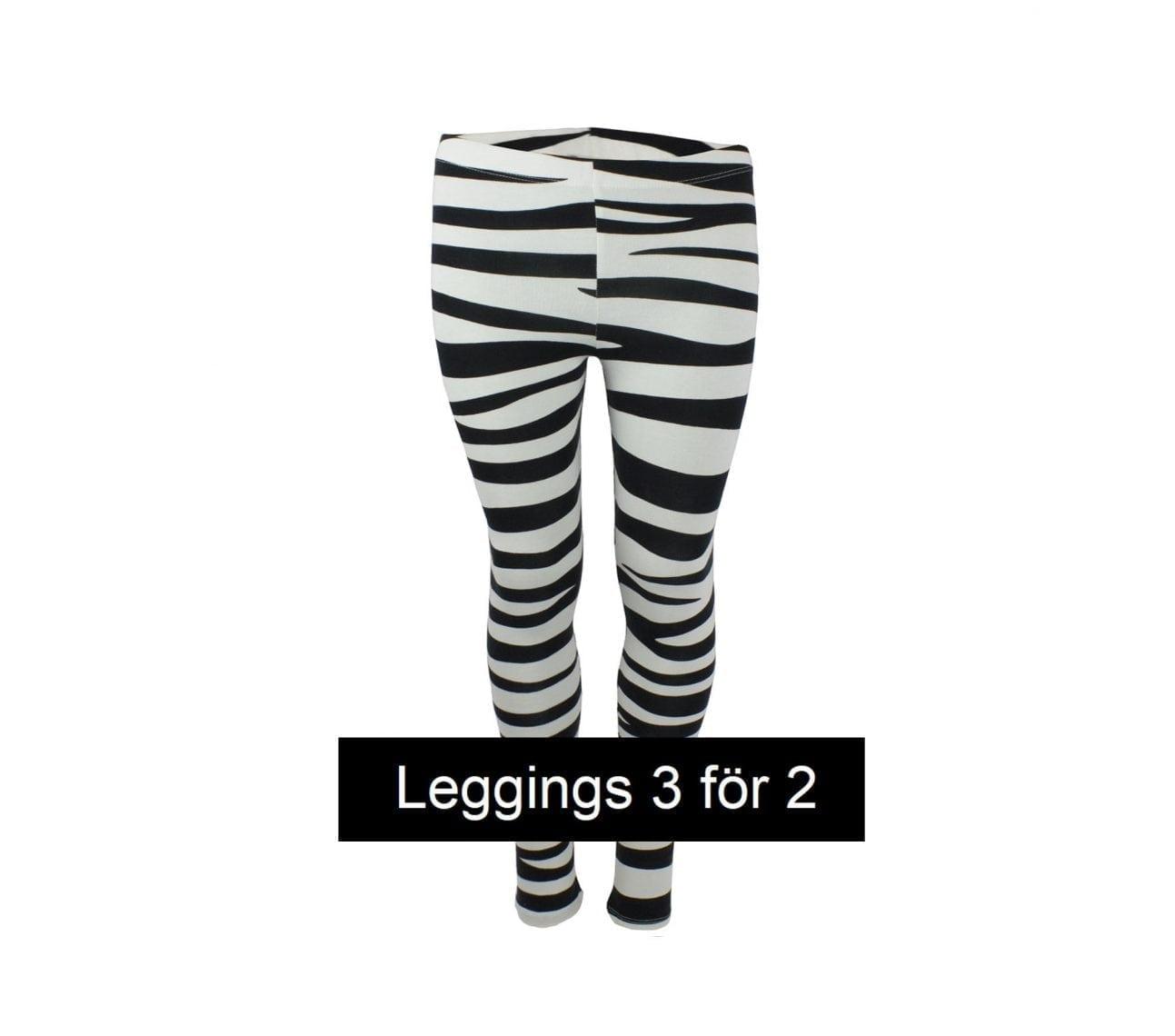Leggings barn zebra mönstrad – Cooper