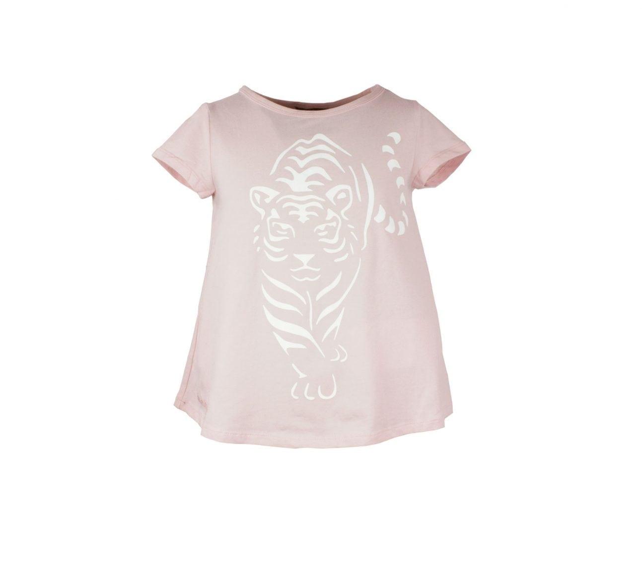 Topp barn kortärmad rosa tiger – Dixie