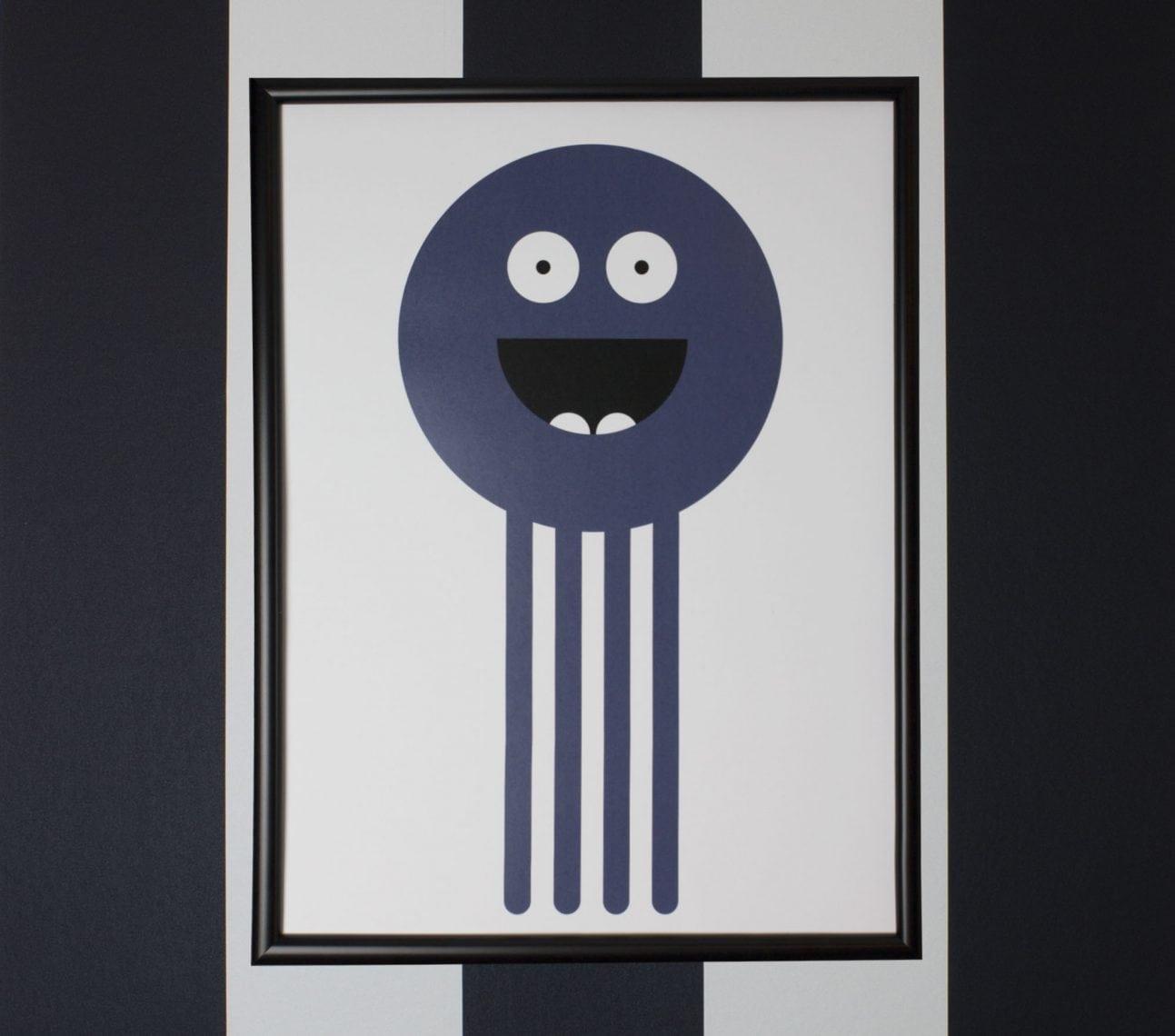 Poster bläckis grå – affisch barnrum