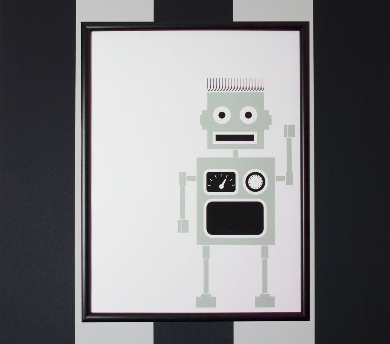 Poster robot mint – affisch barnrum