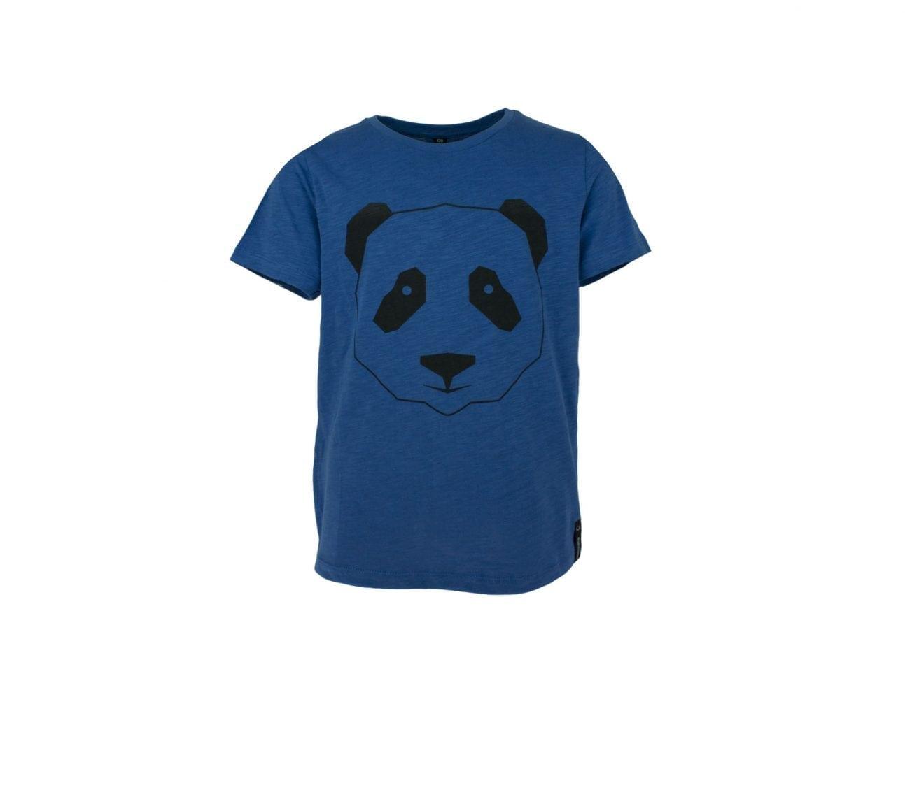 T-shirt barnblå med zip panda- Marley