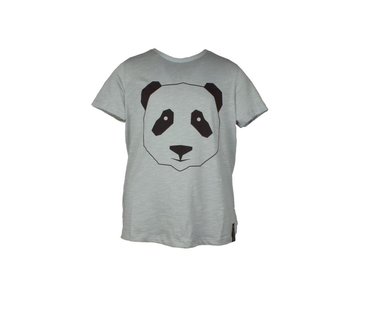 T-shirt barngrå med zip panda- Marley