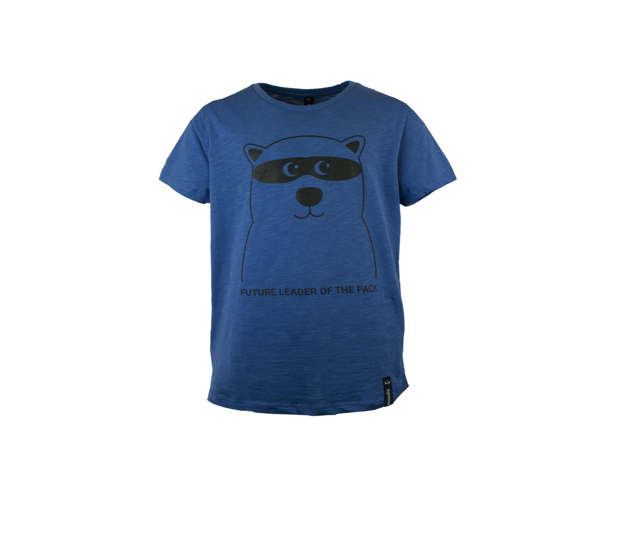 T-shirt barn blå med zip björn- Marley