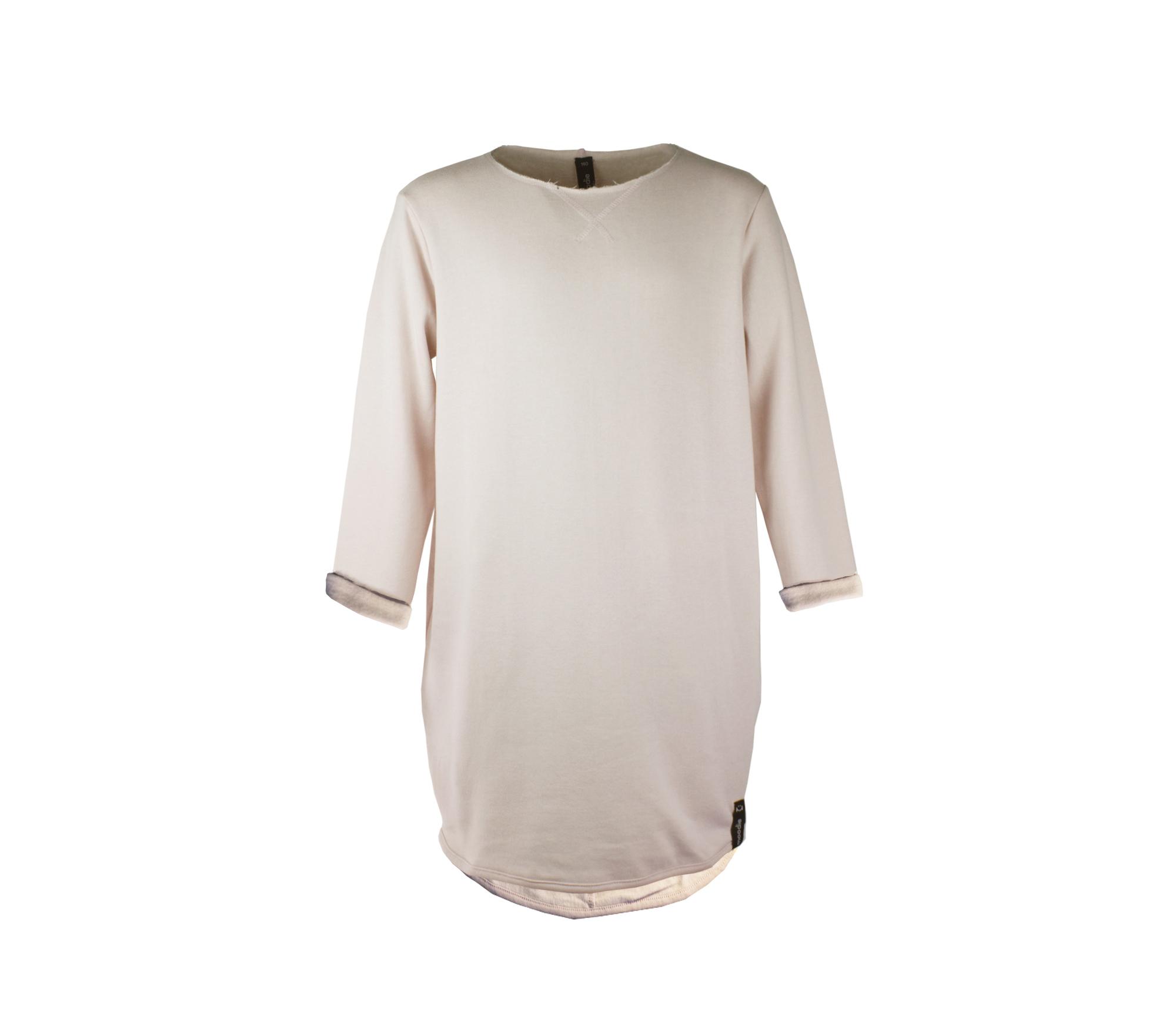 Rosa mjuk barnklänning svettiskvalité – Maison