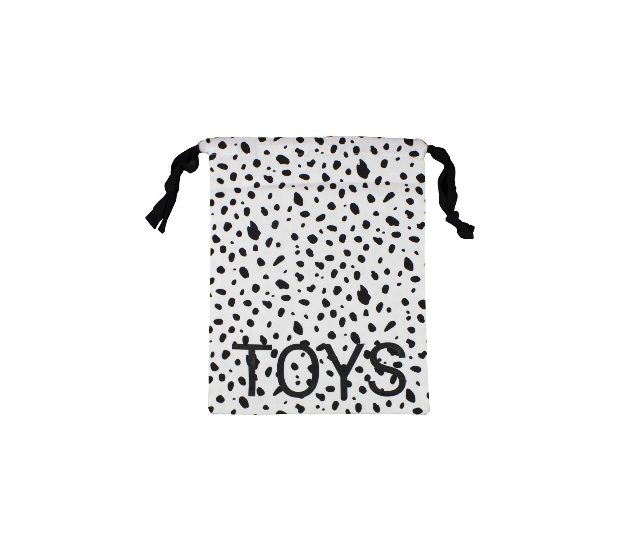 Liten påse svart/vit dalmatin – Toys