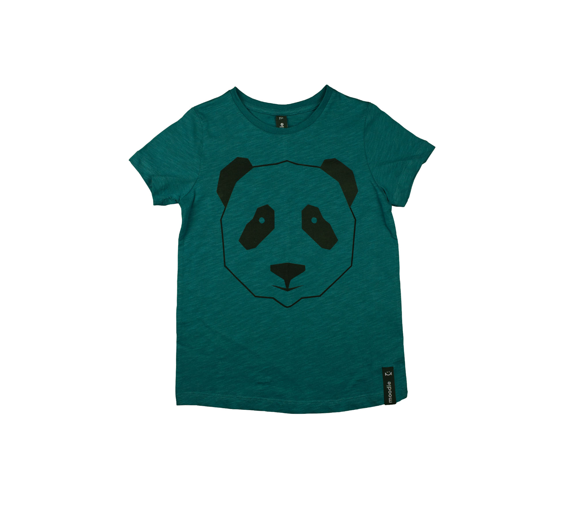 T-shirt barn grön panda- Monky
