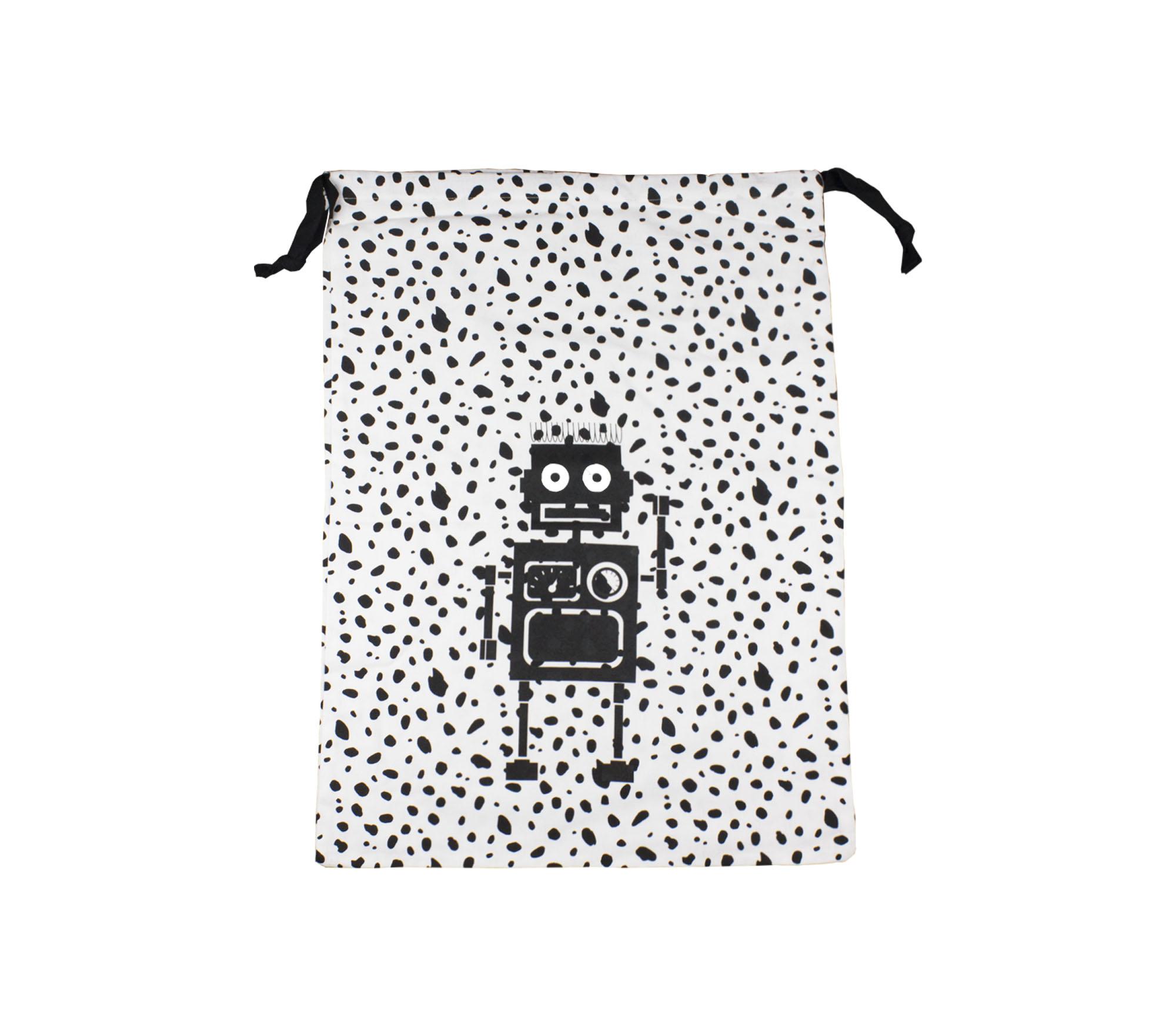 Stor påse svart/vit dalmatin – Robot