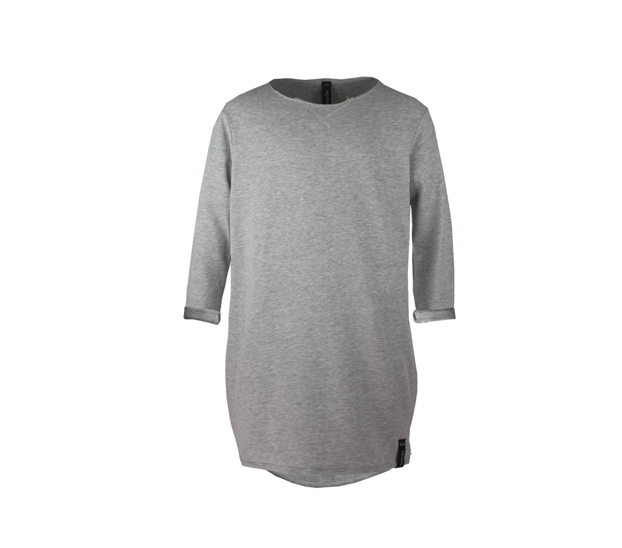 Grå mjuk barnklänning svettiskvalité – Maison