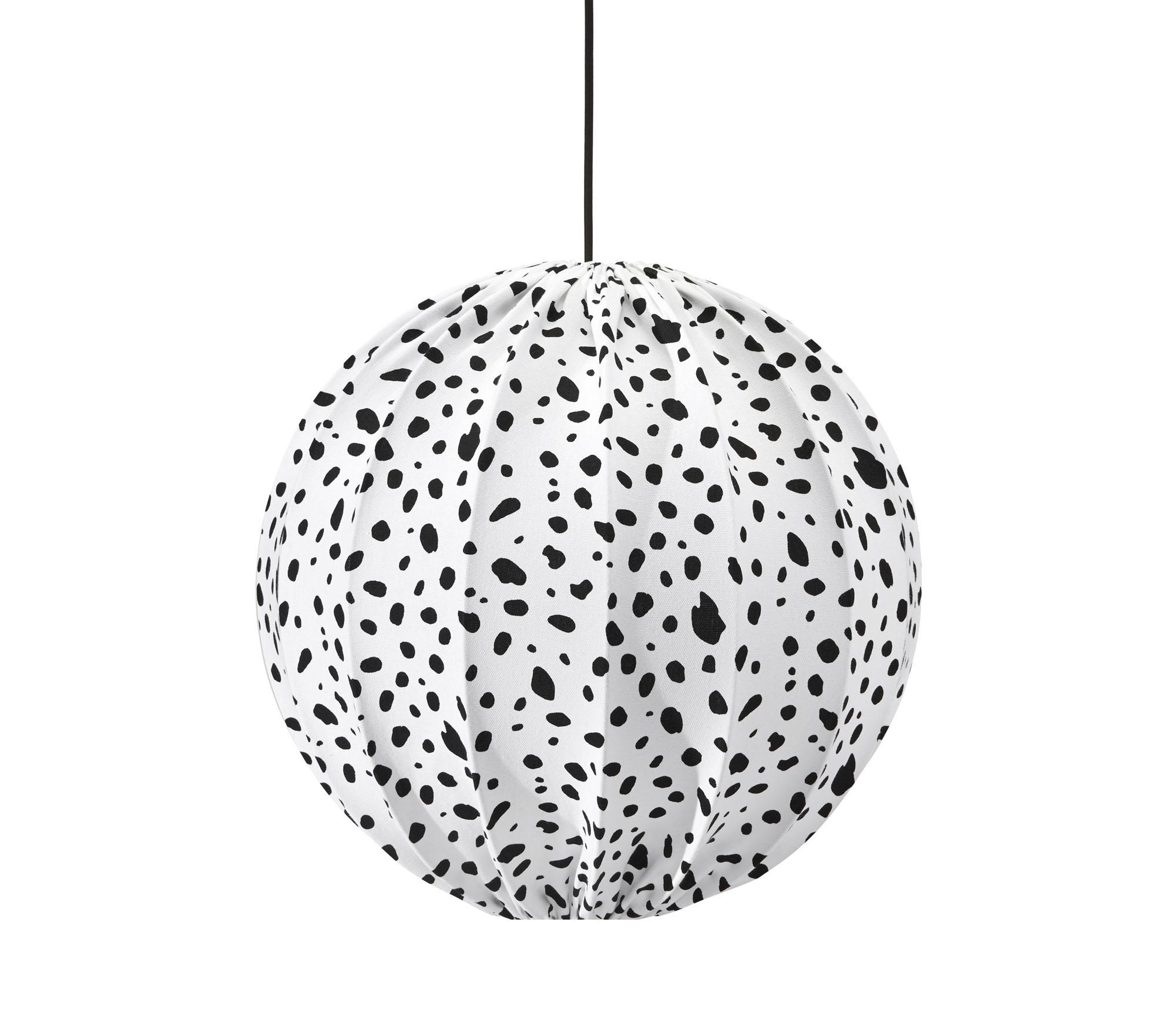 Takskärm rund svart/vit dalmatin – PR home