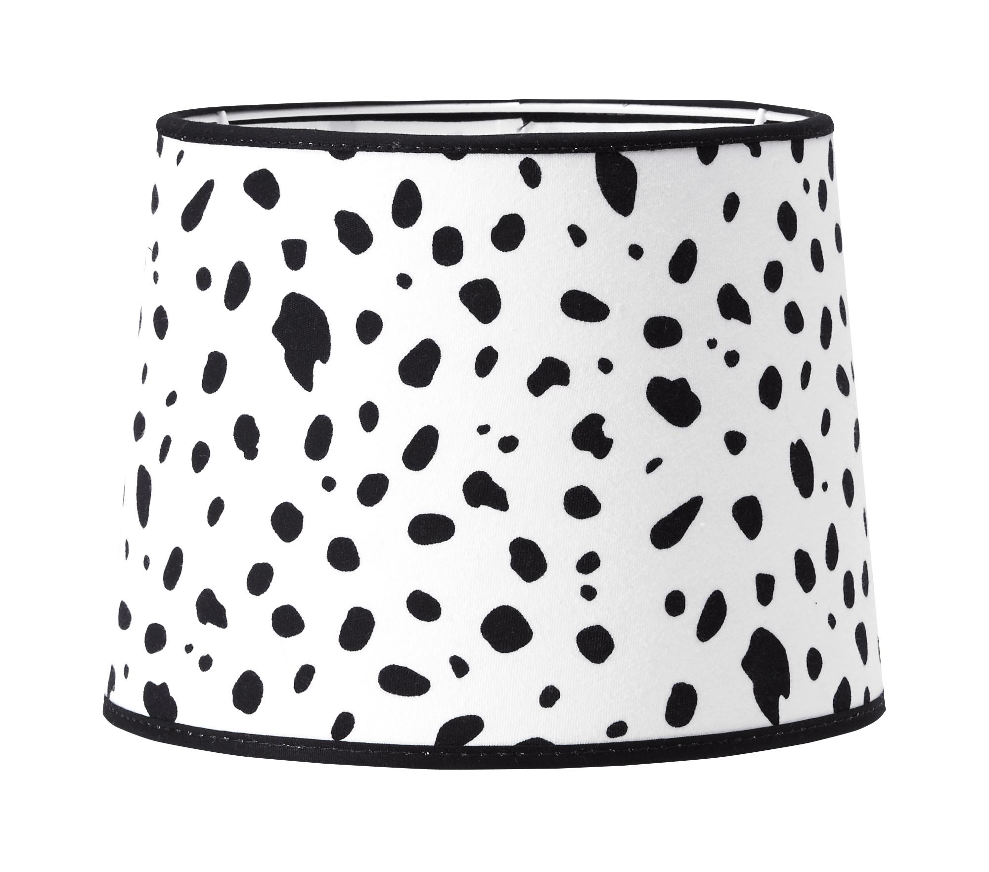 Lampskärm svart/vit dalmatin – PR home