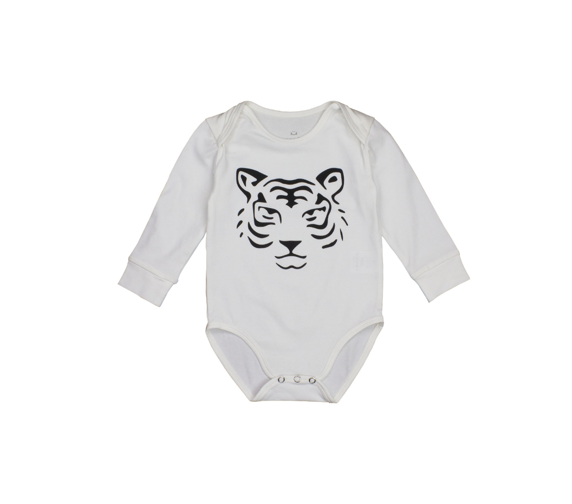 Body baby vit tigerprint- Bobo