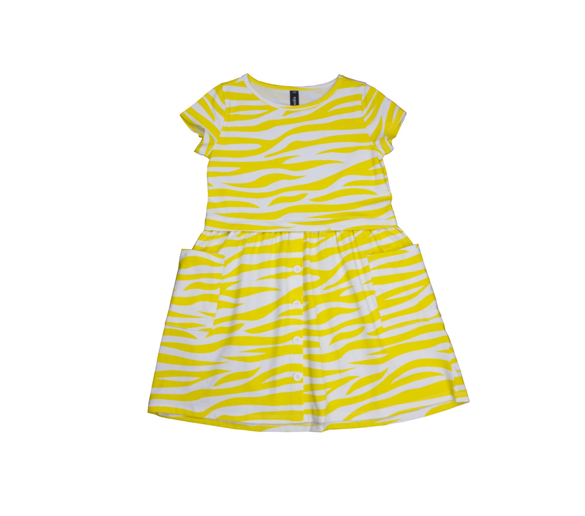 Klänning barn gul zebra – Bonnie